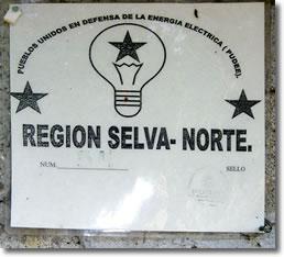 Denucia de Pueblos Unidos por la Defensa de la Energía Eléctrica, del norte de Chiapas.