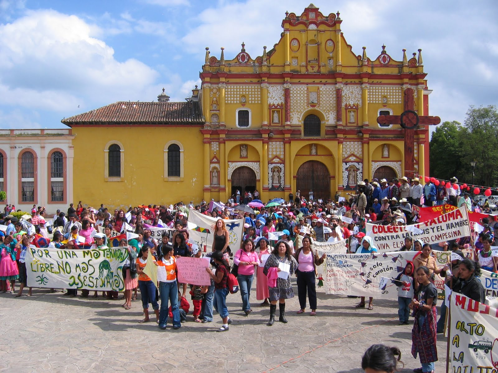 El movimiento de mujeres de San Cristóbal de las Casas, denuncia e informa