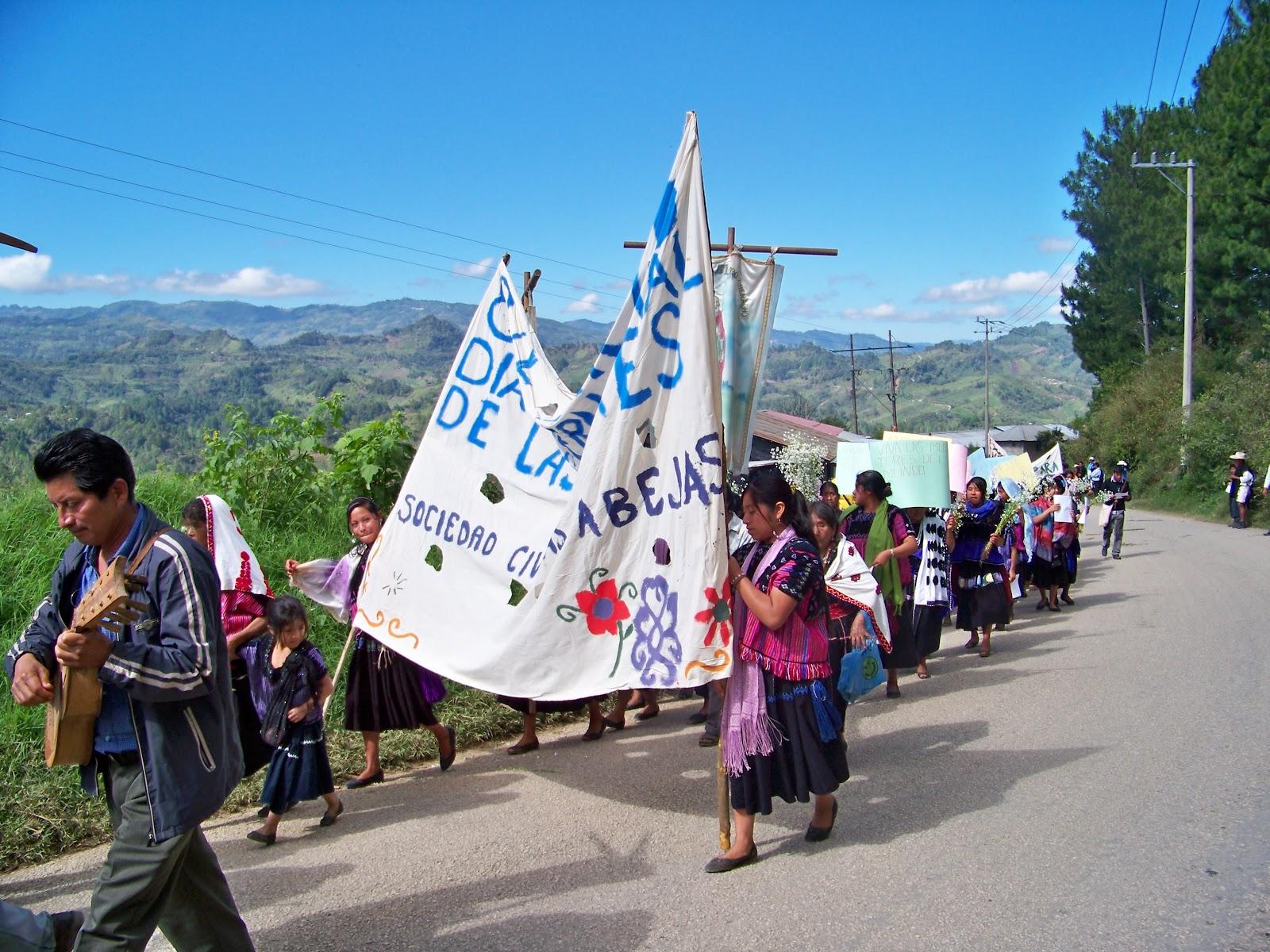 Invitación  de las mujeres de las Abejas de Acteal  » marchemos junt@s contra la violencia hacia las mujeres»
