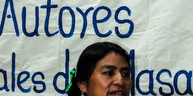 Conferencia de prensa de las Abejas de Acteal al cumplirse 4 años de la liberación de los paramilitares culpables de la masacre.