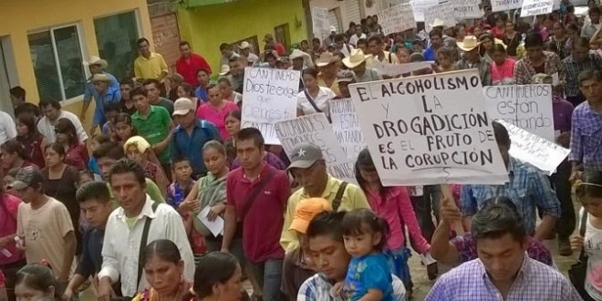"""""""Callar es ser cómplices de una cultura de violencia y corrupción"""", Parroquia de Simojovel Chiapas."""