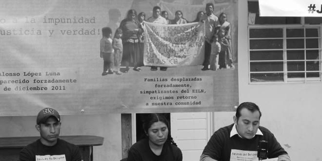 «Al joven Manuel Velasco no le interesa este problema», denuncian indígenas tsotsiles a 3 años de su desplazamiento forzado.