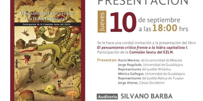 Universidades de Guadalajara y Mérida y organizaciones sociales de Tlaxcala, se suman a la presentación de libro zapatista.