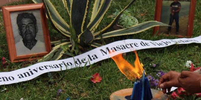 """Chiapas """"Civiles armados, policías, funcionarios y servidores públicos, cometieron la Masacre de Viejo Velasco en Ocosingo"""", DDHH."""