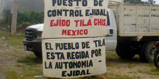 «Nos estamos gobernando de acuerdo a la libre determinación», Ejido Tila Chiapas.