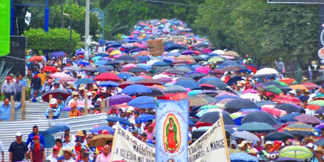 CNTE Chiapas ratifica que no inicia ciclo escolar, con megamarcha en Tuxtla