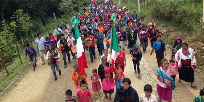 «Detengan la tala inmoderada», exige a Velasco, peregrnación indígena en defensa de la tierra.
