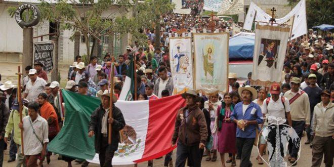 """Yajalón Chiapas: """"una sola familia pretende mantenerse en el gobierno municipal"""", evidencia peregrinación indígena."""