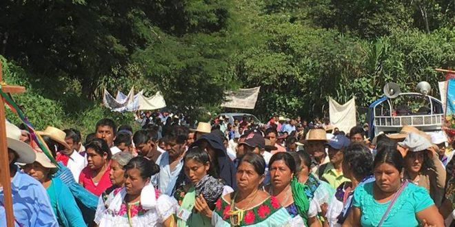 """Chiapas: Peregrinación indígena muestra a gobierno """"verde"""", cómo cuidar la tierra"""