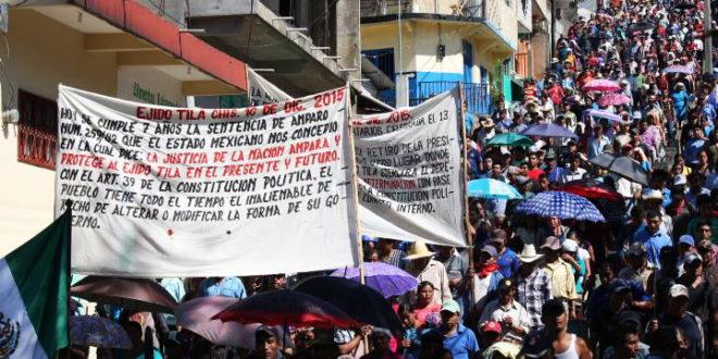 """""""Ante amenazas de enfrentamiento vamos a defender nuestra autonomía"""", Ejido Tila"""