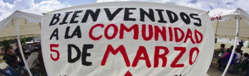 Programa del 23 aniversario de la comunidad 5 de marzo, adherentes a la Sexta