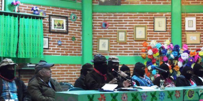 """""""Peña, un caporal al servicio del capitalismo"""", EZLN seminario «Los muros del capital, las grietas de la izquierda»"""