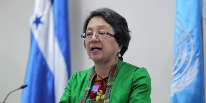 Relatora especial de las Naciones Unidas sobre los derechos de los pueblos indígenas, Victoria Tauli-Corpuz, visita a México.
