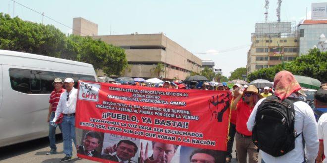 «Foro de Consulta Estatal Participativa», plataforma del «charrismo sindical», denuncia AED-CNTE Chiapas