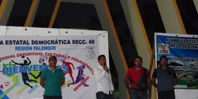 Palenque Chiapas: Alcalde Carlos Morelos, envía «grupo de choque, para reventar el Contra-grito popular», AED-CNTE
