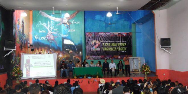 """AED-CNTE Chiapas: frente al """"nuevo modelo educativo"""", proponen el Proyecto Comunitario para la Escuela"""