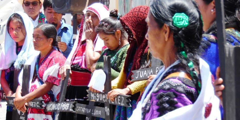 Chiapas: «20 años sin poder retornar a nuestra comunidad. La violencia paramilitar no nos dejó opción», Campamento Nuevo Yibeljoj