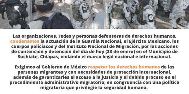 Chiapas: El CDH Fray Matías, demanda judicialmente al INM