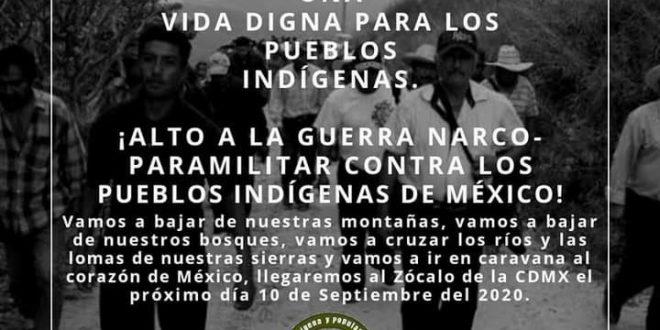Anuncian Caravana por una vida digna: «literalmente nos están asesinando», denuncian indígenas de Guerrero