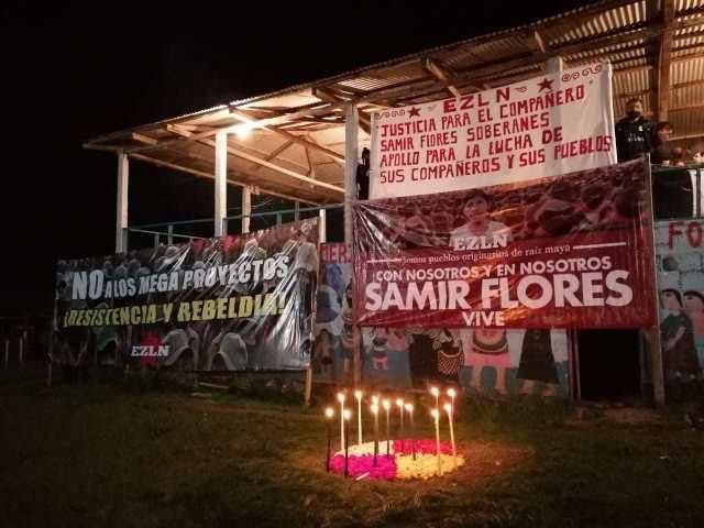 """""""Compañero Samir Flores Soberanes: ¡Presente!"""", el grito de miles de zapatistas"""
