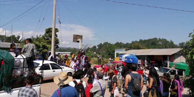 Inicia el retorno de las familias desplazadas de Las Abejas desde Acteal a Los Chorros