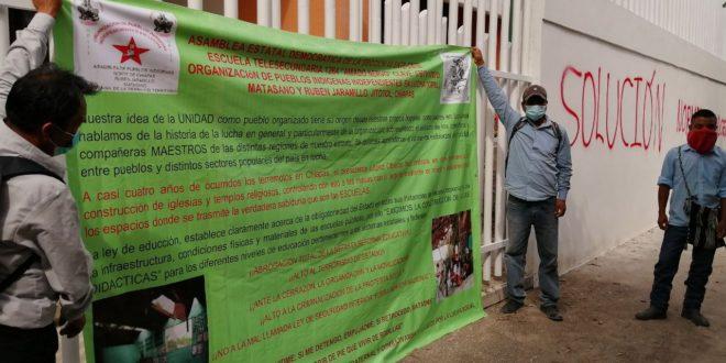 Cadena de cambios Usicam, continuidad de la reforma educativa neoliberal de EPN, denuncia magisterio movilizado en Chiapas