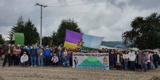 Michoacán: Exigen respeto a la ibre Autodeterminación de Zirahuén