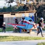 entrenando avión