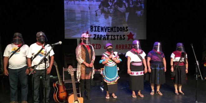 Bienvenida a la delegación zapatista en Madrid, España