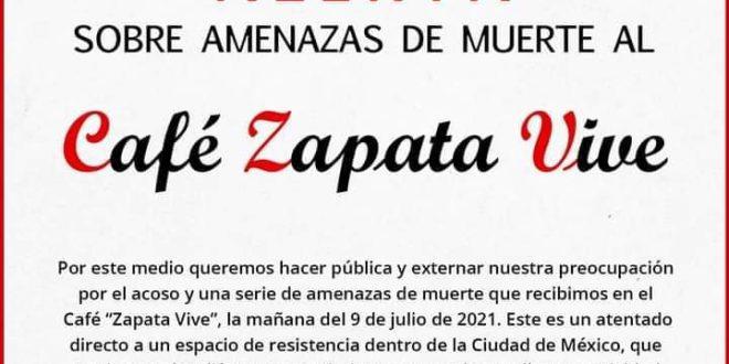 CDMX: Denuncian amenazas de muerte dirigidas al café Zapata Vive