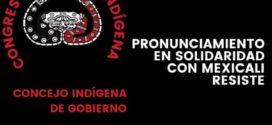 Pronunciamiento del CNI_CIG en solidaridad con Mexicali Resiste