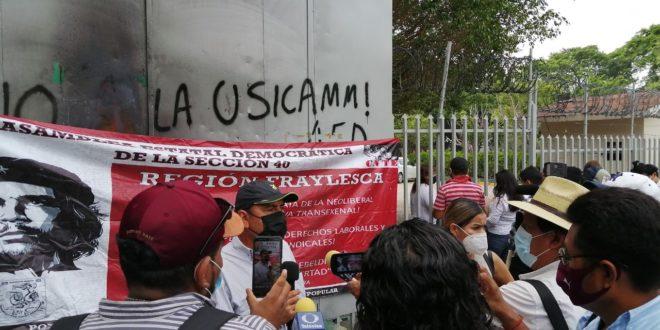 Durante el tiempo de la pandemia «el Estado se perfeccionó y logró concretar medidas económicas autoritarias y neoliberales», denuncia el magisterio movilizado en Chiapas